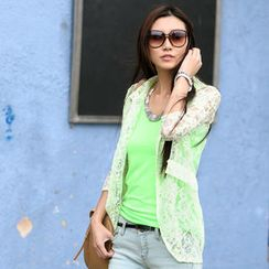 SO Central - Neon Floral Lace Jacket