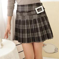 RingBear - Plaid Pleated Skirt