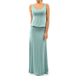 Dream a Dream - Sleeveless Tie Waist Maxi Dress