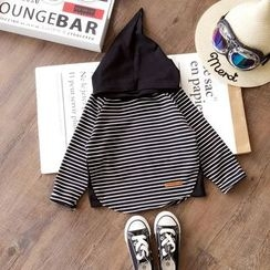 Milmerta - Kids Long-Sleeve Hooded Striped Top