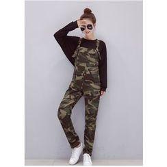 Dream Girl - Camo Jumper Pants