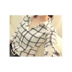 Rocho - Plaid Chiffon Shirt