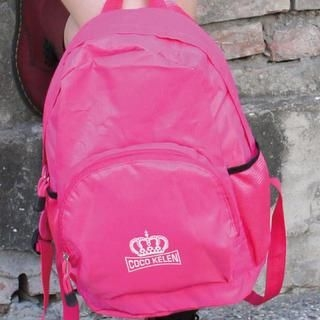 B.B. HOUSE - Crown-Print Waterproof Backpack