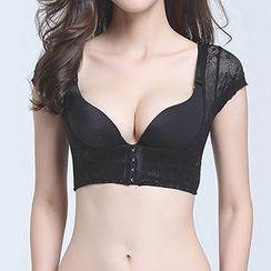 Giselle Shapewear - Lace Short-Sleeve Shaping Top