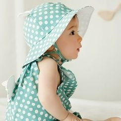 Debii - Kids Ear-Accent Dotted Hat