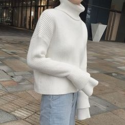 Cloud Nine - Turtleneck Bell-Sleeve Sweater
