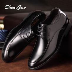 SHEN GAO - Genuine-Leather Lace-Up Oxfords