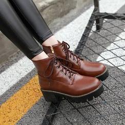天姿 - 粗跟短靴