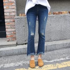 Envy Look - Fringed Boot-Cut Jeans