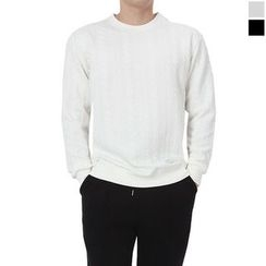 Seoul Homme - Round-Neck Patterned T-Shirt