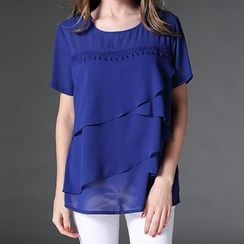 Mythmax - Short-Sleeve Layered Top