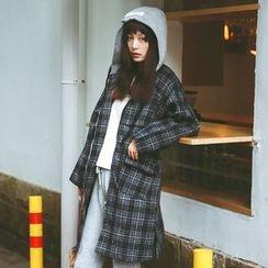 MOJIN - Plaid Zip Coat