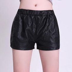 Romantica - Faux-Leather Shorts