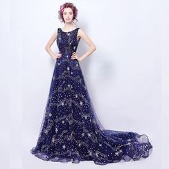 Angel Bridal - Printed Evening Gown
