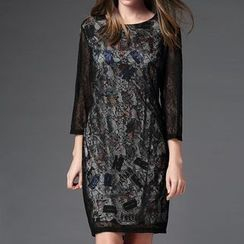 Mythmax - Lace Sheath Dress