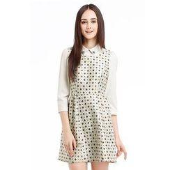 O.SA - Floral Glitter Collared Dress