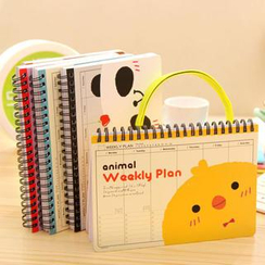 Cutie Bazaar - Animal-Themed Weekly Planner (S)