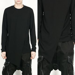 Remember Click - Asymmetric-Hem T-Shirt