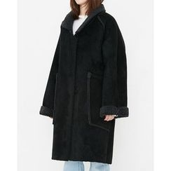Someday, if - Open-Front Faux-Shearling Coat