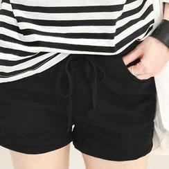 NANING9 - Drawstring-Waist Shorts