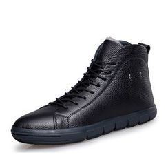 EnllerviiD - Genuine Leather High-Top Sneakers