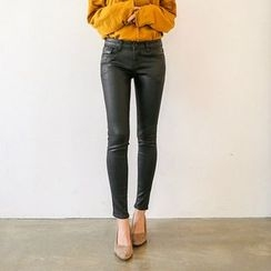 Seoul Fashion - Coated Skinny Pants