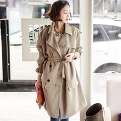 JOAMOM - Double-Breasted Trench Coat