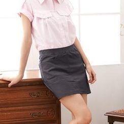 RingBear - 窄裙版OL风格松紧裤裙