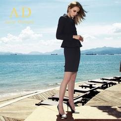 Aision - Ruffle Blouse / Blazer / Pencil Skirt / Trousers