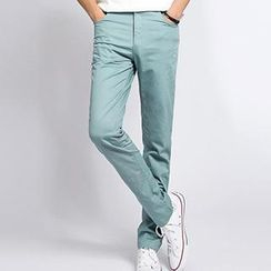Besto - Slim Fit Cotton Blend Pants