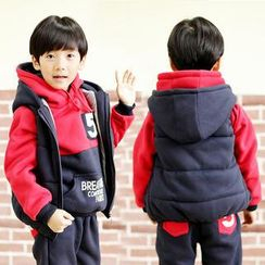 Lullaby - Kids Set: Hooded Pullover + Pants + Hooded Vest