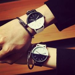 InShop Watches - Two-Tone Faux-Leather Strap Watch
