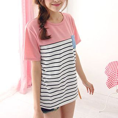 Maymaylu Dreams - Short-Sleeved Stripe T-Shirt