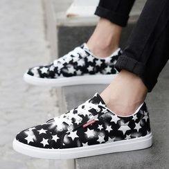 BINSHOU - Star Print Canvas Sneakers