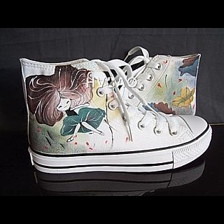 HVBAO - 'Lotus Fairy' High-Top Canvas Sneakers