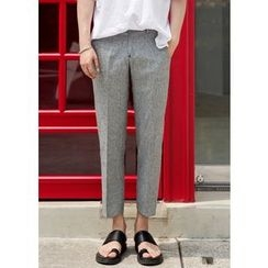 GERIO - Flat-Front Tapered Pants