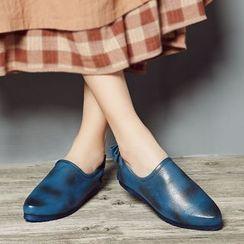 LARKSPUR - 蝴蝶結真皮樂福鞋