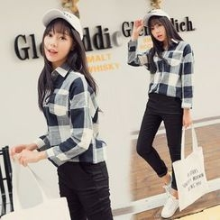 IndiGirl - Check Blouse
