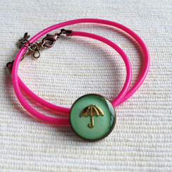 MyLittleThing - Pink Umbrella Double Bracelet