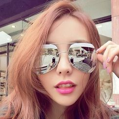 Pompabee - Mirrored Aviator Sunglasses