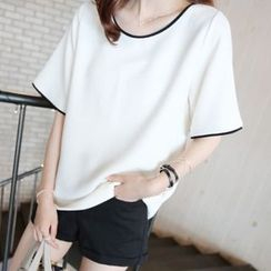 MayFair - Piped Short-Sleeve T-shirt