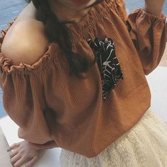 QZ Lady - Bow Off Shoulder Blouse
