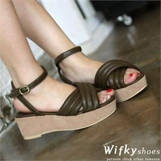 Wifky - Strap Wedge Sandals