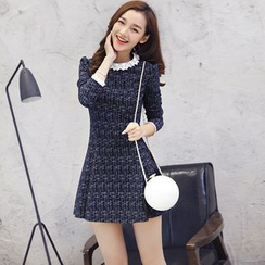 Angel Shine - Long-Sleeve knit A-Line Dress