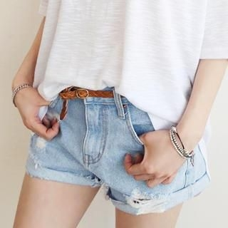 NANING9 - Distressed Denim Shorts