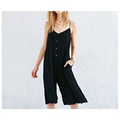 Richcoco - Strappy Crop Jumpsuit