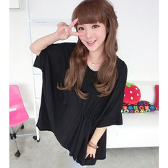 SO Central - Batwing-Sleeve T-Shirt Dress