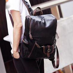 BagBuzz - 人造皮袋蓋背包