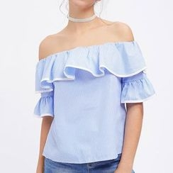 Rebecca - Elbow-Sleeve Off Shoulder Top