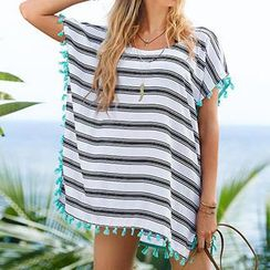 Sunset Hours - Striped Cover-Up